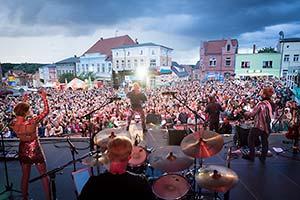 Foto vom Publikum von der Bühne aus gesehen
